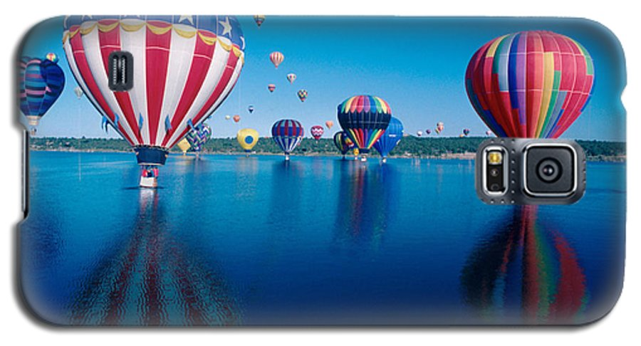 Hot Air Balloons Galaxy S5 Case featuring the photograph Patriotic Hot Air Balloon by Jerry McElroy