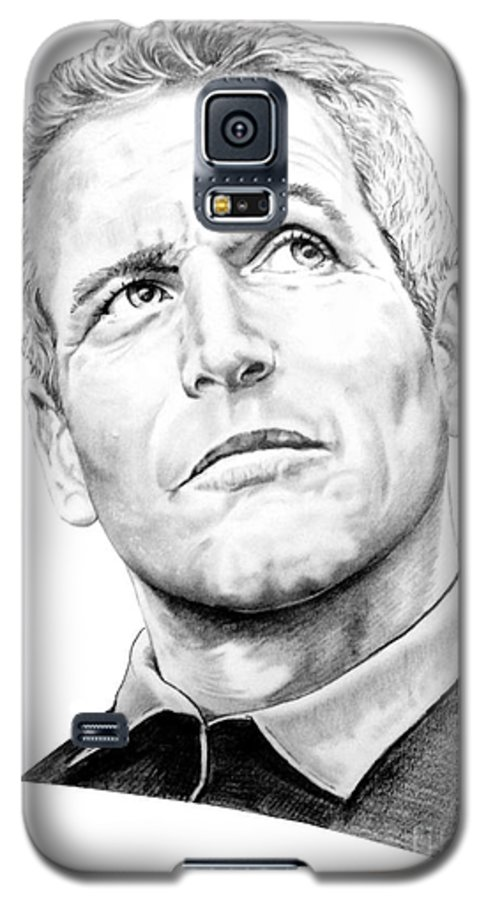 Paul Newman Galaxy S5 Case featuring the drawing Paul Newman by Murphy Elliott