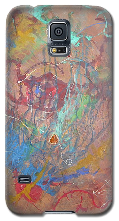 Modern Galaxy S5 Case featuring the painting Peace In Motion by Frederic Payet