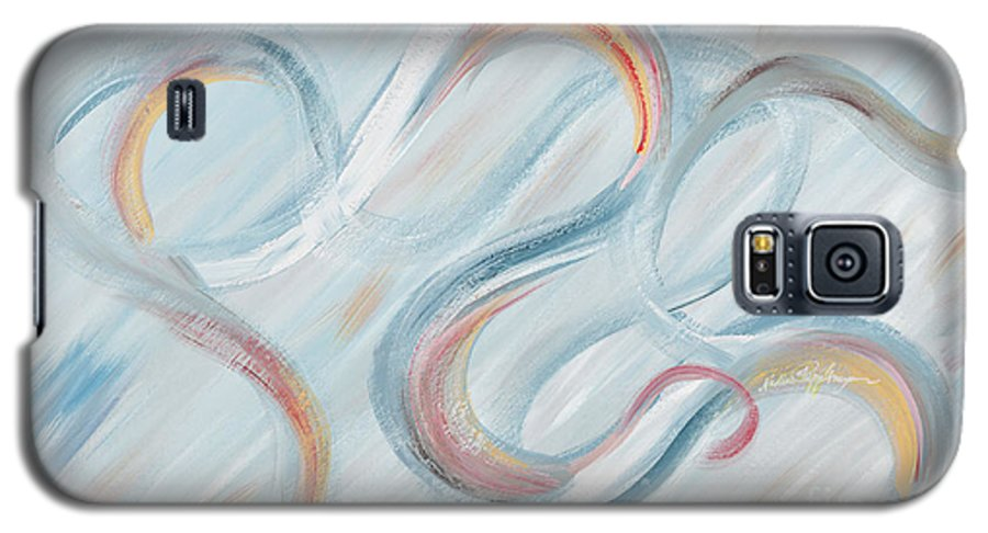 Peace Galaxy S5 Case featuring the painting Peace by Nadine Rippelmeyer