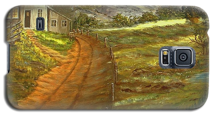 Landscape Galaxy S5 Case featuring the painting Peaceful Country by Kenneth LePoidevin