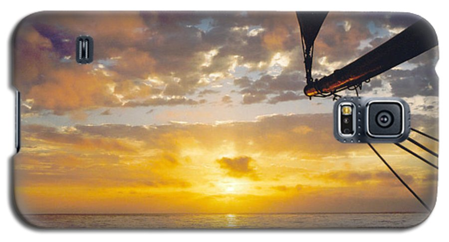 Sunset Galaxy S5 Case featuring the photograph Peaceful Sailing by Kathy Schumann