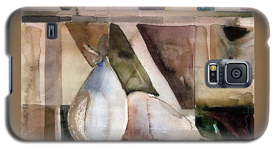 Pear Galaxy S5 Case featuring the painting Pear Study In Watercolor by Mindy Newman