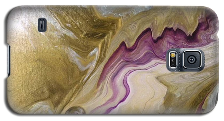 Acrylic Galaxy S5 Case featuring the painting Pearl by Patrick Mock