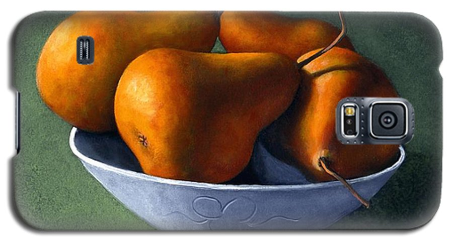 Still Life Galaxy S5 Case featuring the painting Pears In Blue Bowl by Frank Wilson
