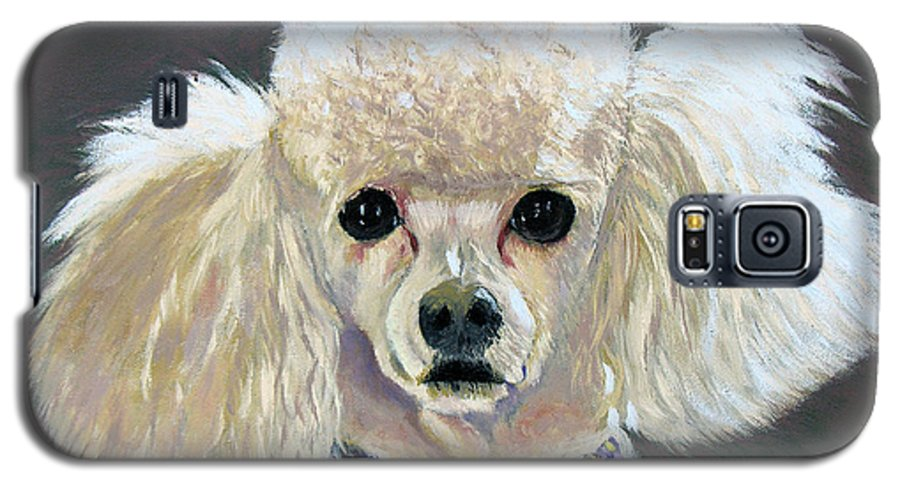 Dog Galaxy S5 Case featuring the painting Pebbles by Stan Hamilton