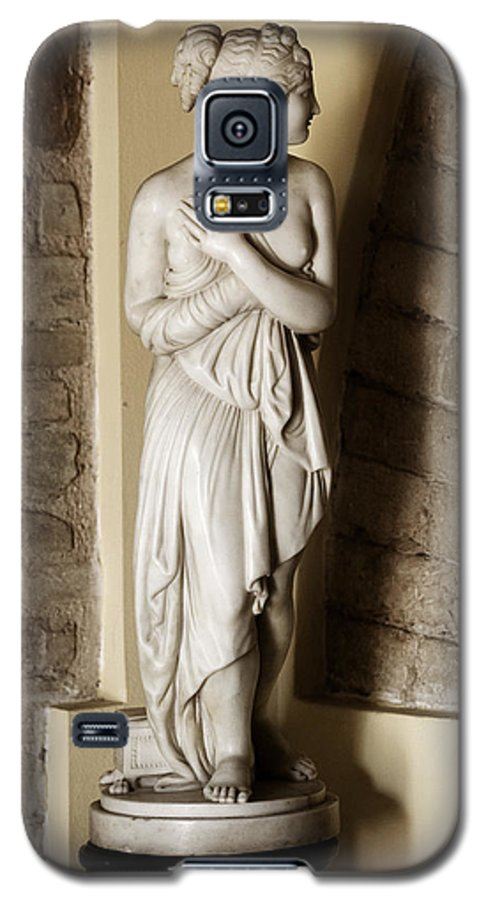 Statue Galaxy S5 Case featuring the photograph Peering Woman by Marilyn Hunt