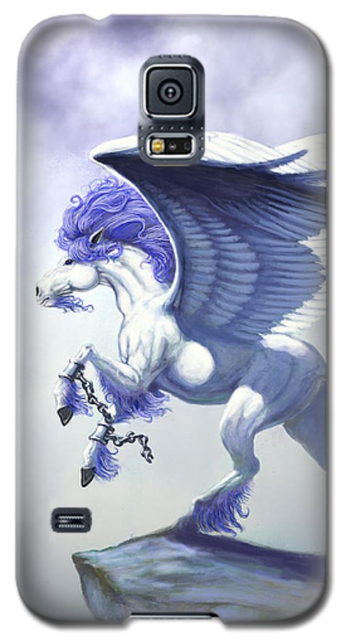 Pegasus.fantasy Galaxy S5 Case featuring the digital art Pegasus Unchained by Stanley Morrison