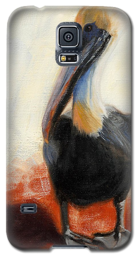 Pelican Galaxy S5 Case featuring the painting Pelican Study by Greg Neal