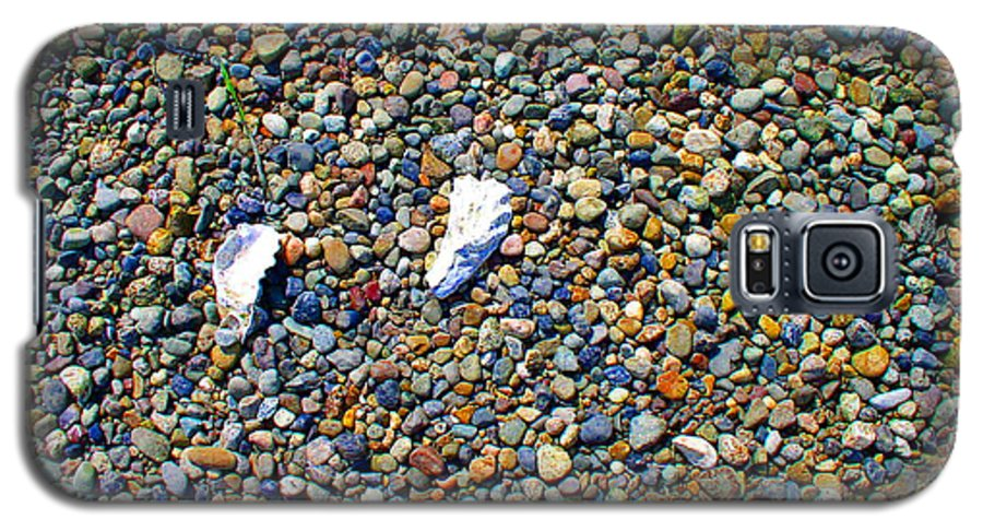 Beach Galaxy S5 Case featuring the photograph Pepples On The Beach by Valerie Josi