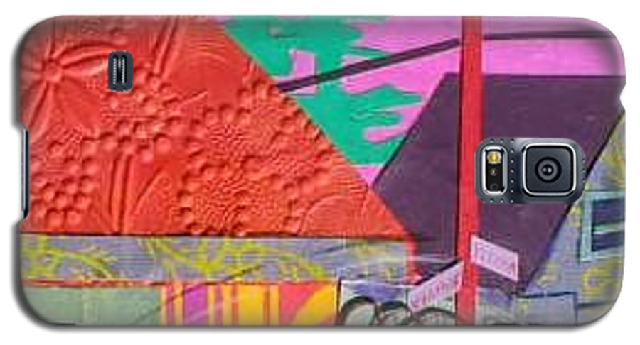 City Galaxy S5 Case featuring the mixed media Perham Street by Debra Bretton Robinson