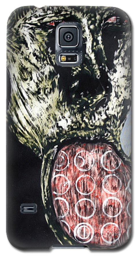 Portrait Galaxy S5 Case featuring the mixed media Persephone by Chester Elmore