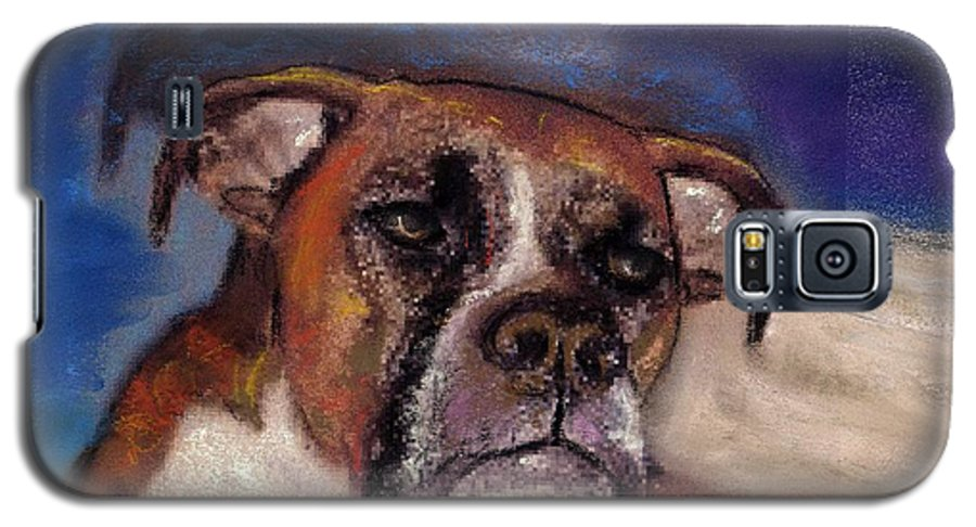 Pastel Pet Portraits Galaxy S5 Case featuring the painting Pet Portraits by Darla Joy Johnson