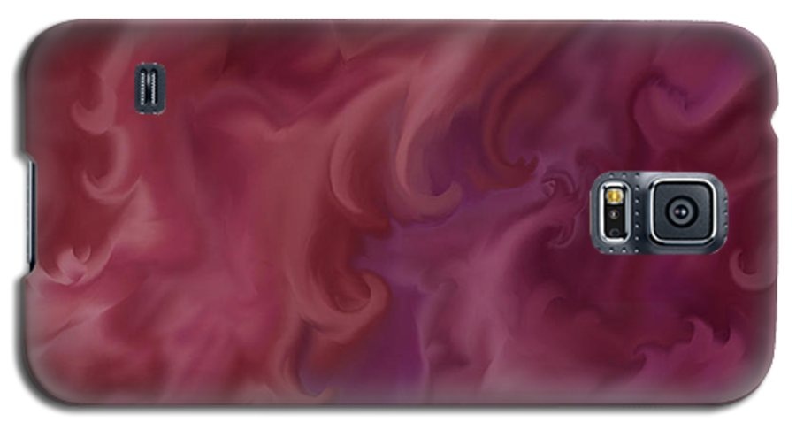 Fantasy Galaxy S5 Case featuring the painting Phoenix Rising by Anne Norskog