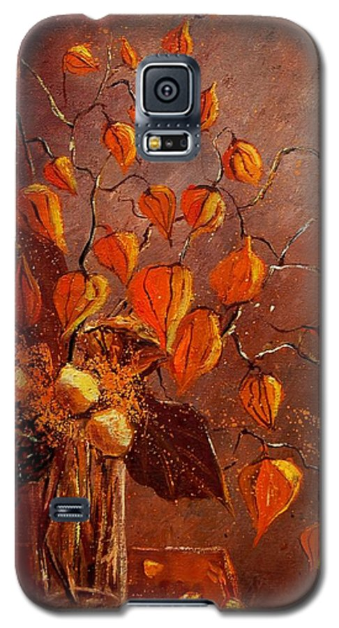 Poppies Galaxy S5 Case featuring the painting Physialis by Pol Ledent