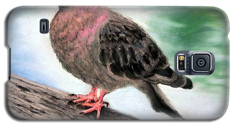 Pigeon Galaxy S5 Case featuring the painting Pigeon Toes by Minaz Jantz