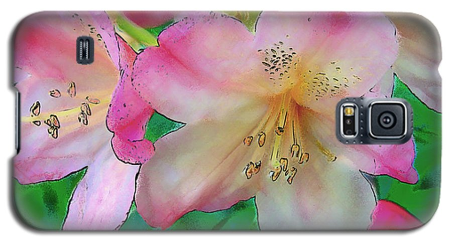 Ebsq Galaxy S5 Case featuring the photograph Pink Azalea by Dee Flouton