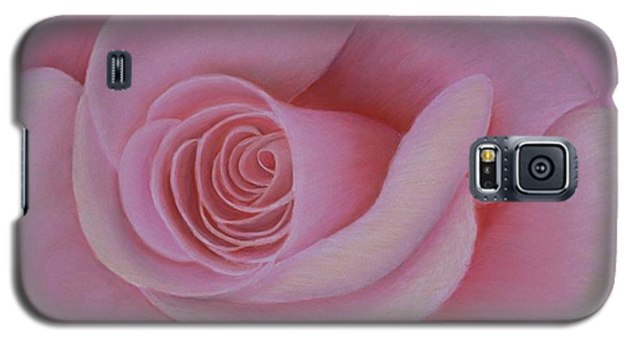Rose Galaxy S5 Case featuring the painting Pink Blush by Mary Erbert