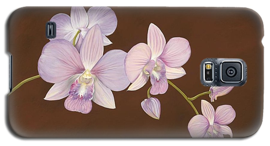 Orchid Galaxy S5 Case featuring the painting Pink Orchids by Shawn Stallings