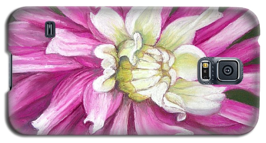 Floral Galaxy S5 Case featuring the painting Pink Petal Blast by Minaz Jantz