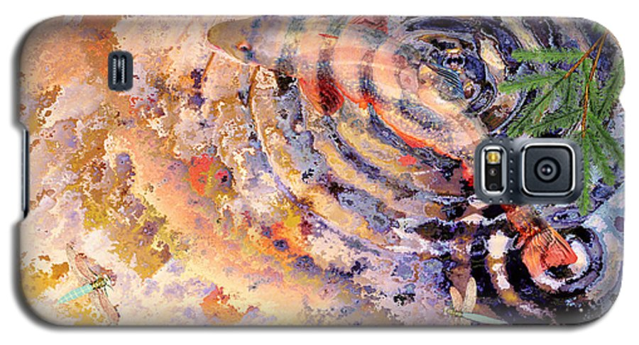 Pond Galaxy S5 Case featuring the painting Pisces by Peter J Sucy