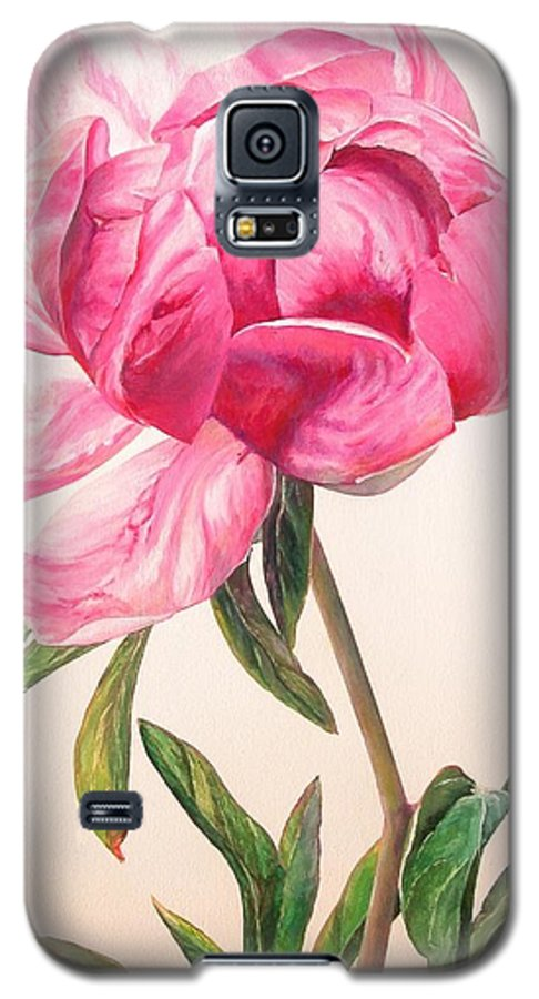 Floral Painting Galaxy S5 Case featuring the painting Pivoine 1 by Muriel Dolemieux
