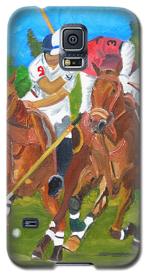 Polo Galaxy S5 Case featuring the painting Play In Motion by Michael Lee