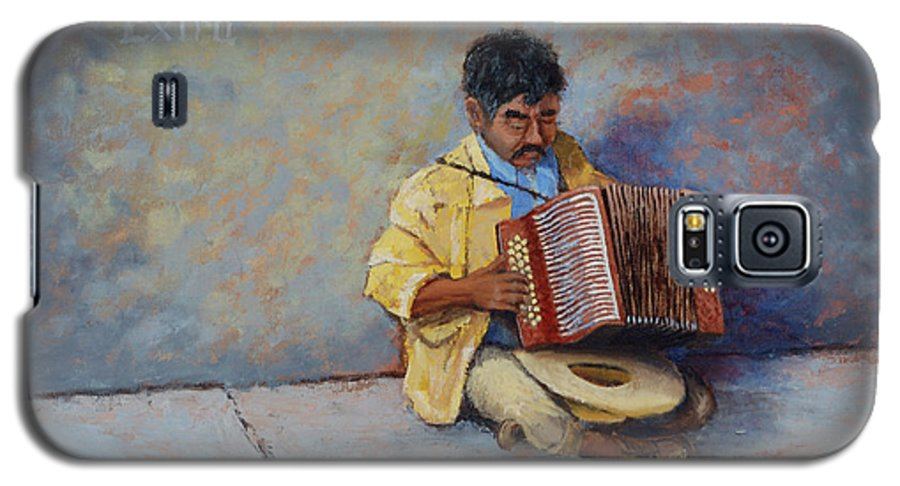 Mexico Galaxy S5 Case featuring the painting Playing For Pesos by Jerry McElroy