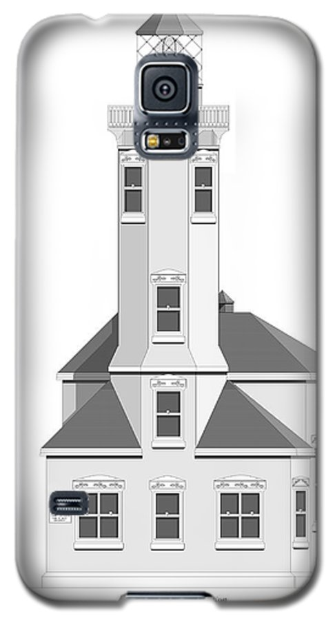 Lighthouse Galaxy S5 Case featuring the painting Point Wilson Architectural Drawing by Anne Norskog