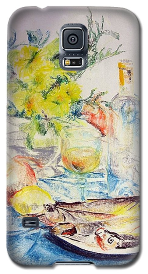 Still Life Galaxy S5 Case featuring the drawing Poissons by Muriel Dolemieux