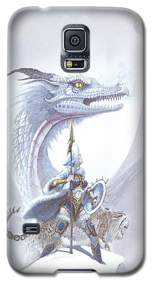 Dragon Galaxy S5 Case featuring the painting Polar Princess by Stanley Morrison