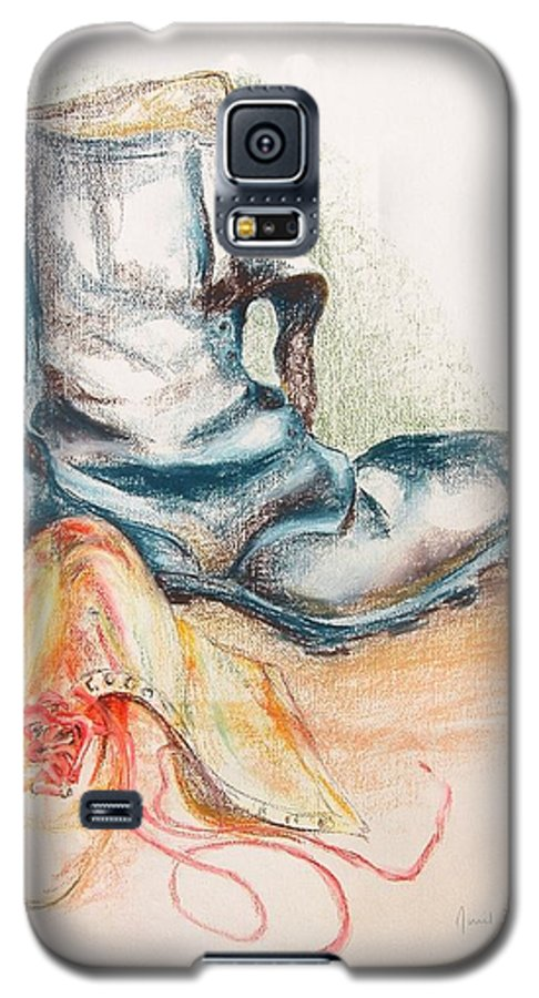 Still Life Galaxy S5 Case featuring the drawing Pompes by Muriel Dolemieux