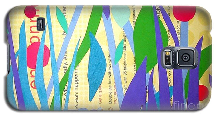 Landscape Galaxy S5 Case featuring the mixed media Pond Life by Debra Bretton Robinson