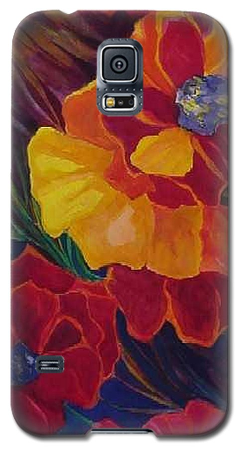 Flowers Galaxy S5 Case featuring the painting Poppies by Carolyn LeGrand
