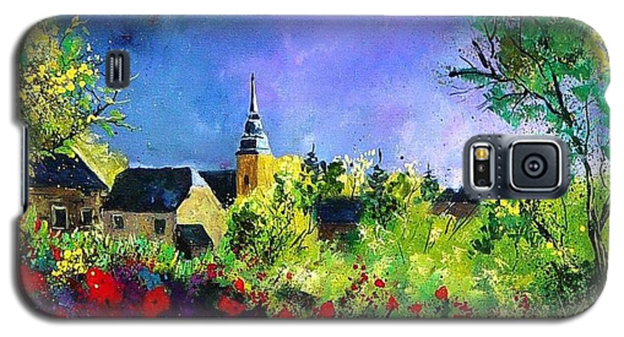 Flowers Galaxy S5 Case featuring the painting Poppies In Villers by Pol Ledent