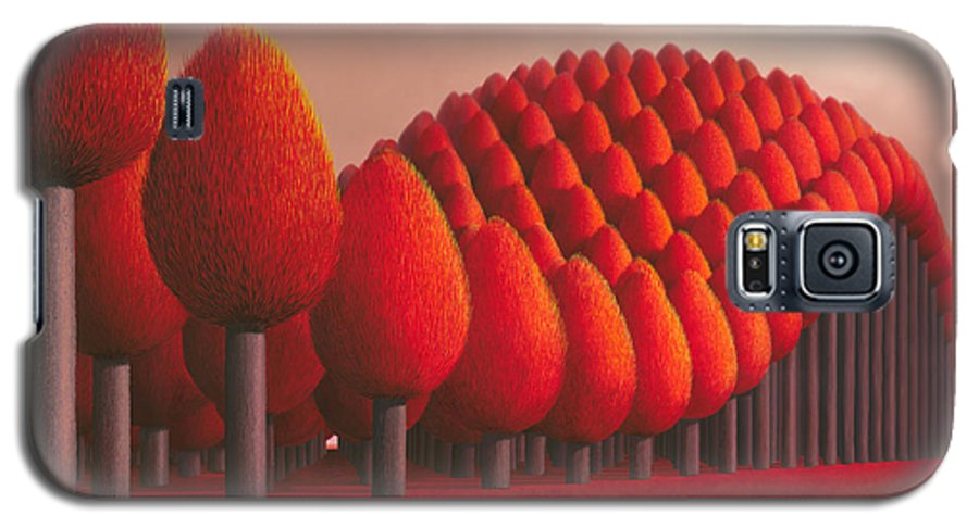 Tree Galaxy S5 Case featuring the painting Populus Flucta by Patricia Van Lubeck