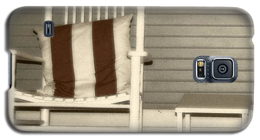 Rocking Chair Galaxy S5 Case featuring the photograph Porch Rocker by Debbi Granruth