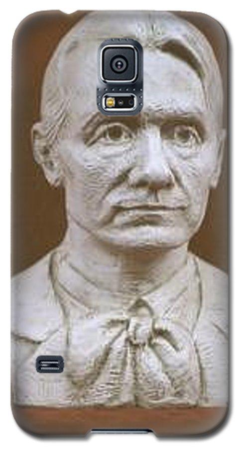 Rudolf Steiner Galaxy S5 Case featuring the sculpture Portrait Bust Of Rudolf Steiner by David Dozier