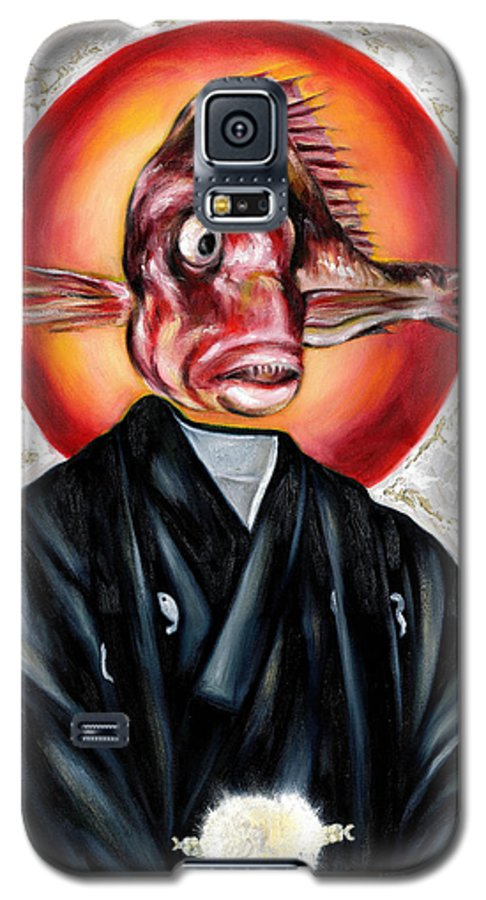 Japanese Galaxy S5 Case featuring the painting Portrait by Hiroko Sakai