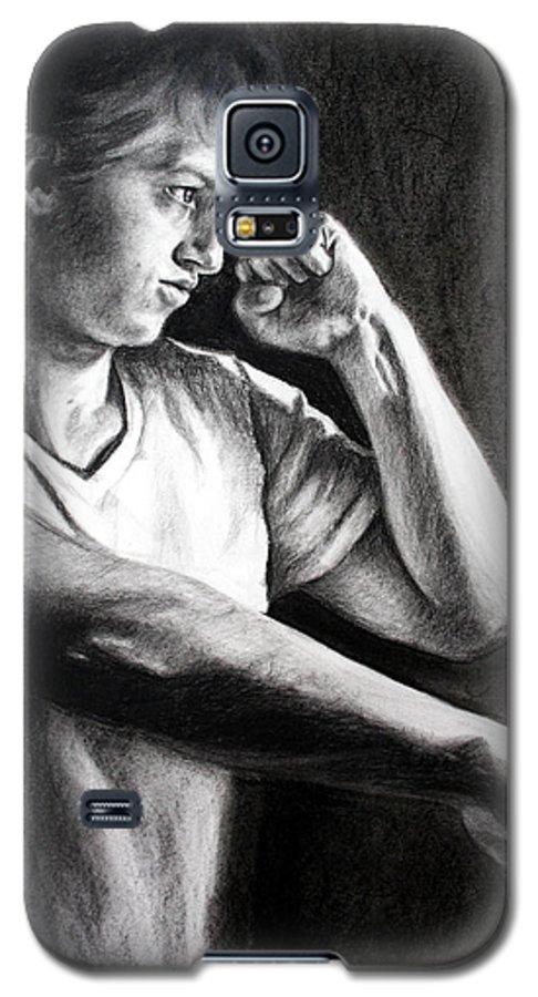 Portrait Galaxy S5 Case featuring the drawing Portrait by Maryn Crawford