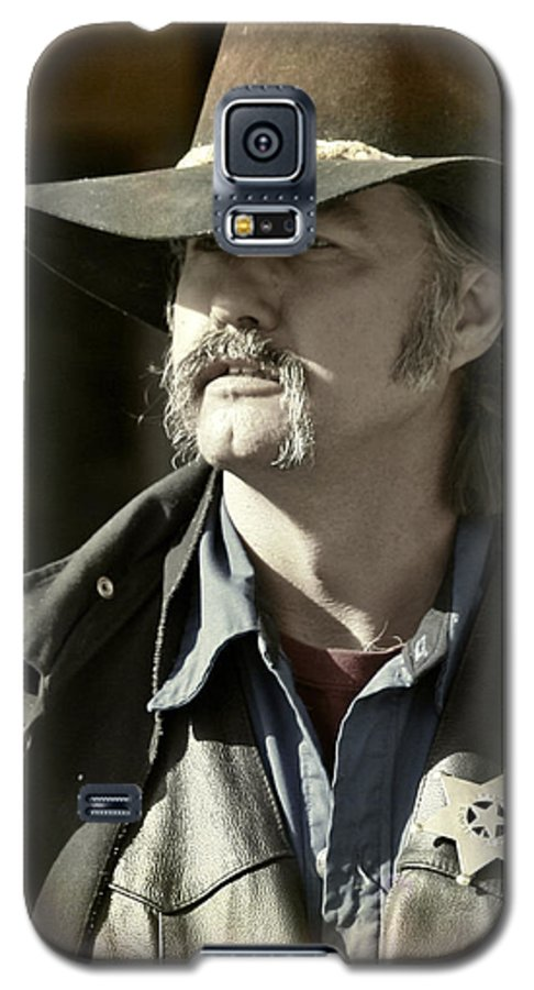 Portrait Galaxy S5 Case featuring the photograph Portrait Of A Bygone Time Sheriff by Christine Till