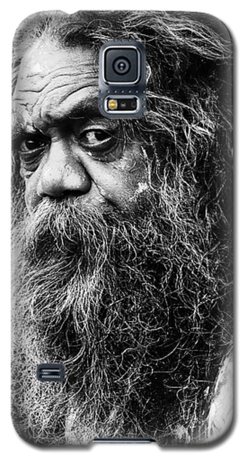 Aborigine Aboriginal Australian Galaxy S5 Case featuring the photograph Portrait Of An Australian Aborigine by Sheila Smart Fine Art Photography