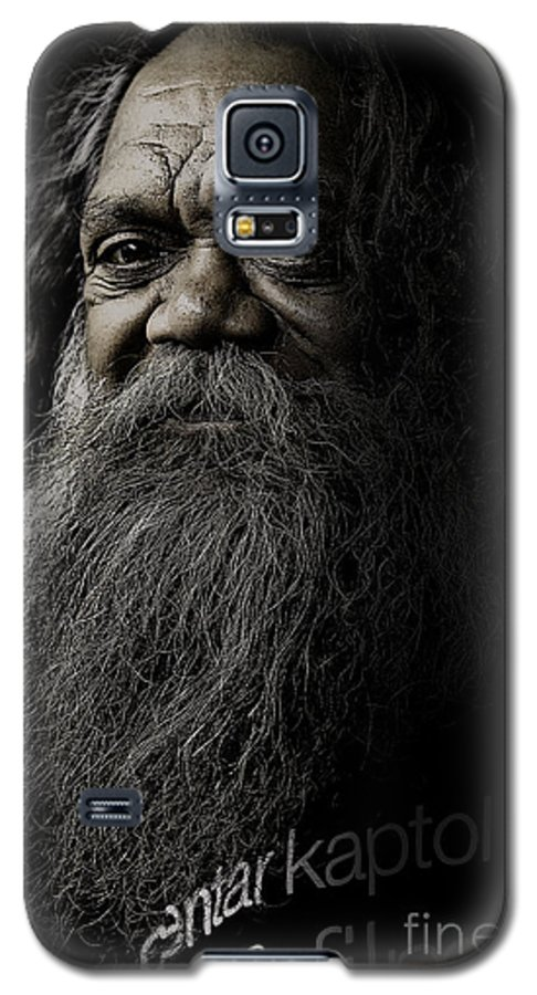 Aboriginal Galaxy S5 Case featuring the photograph Portrait Of Cedric by Sheila Smart Fine Art Photography