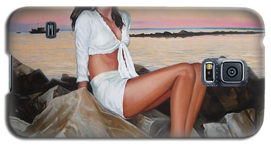 Art Galaxy S5 Case featuring the painting Portrait by Sergey Ignatenko