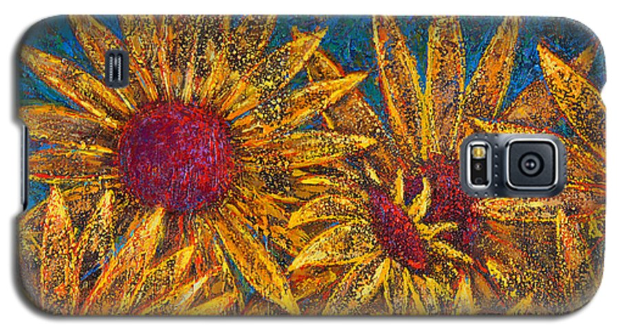 Flowers Galaxy S5 Case featuring the painting Positivity by Oscar Ortiz