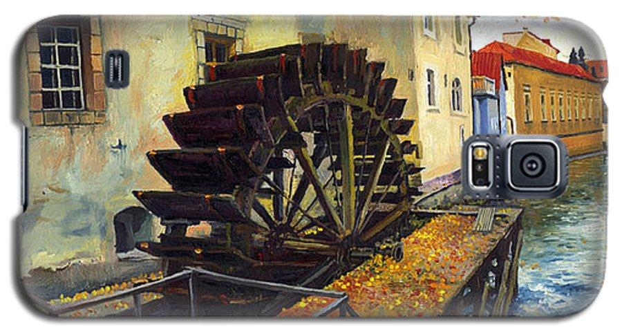 Prague Galaxy S5 Case featuring the painting Prague Chertovka by Yuriy Shevchuk