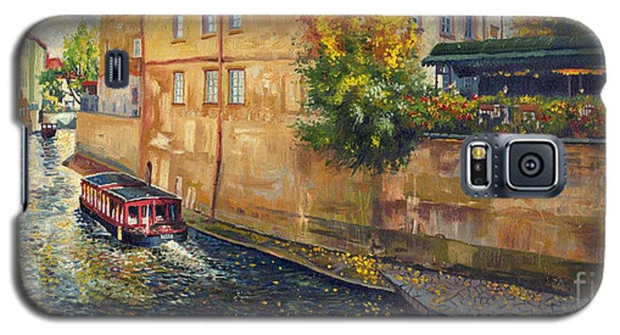 Oil.prague Galaxy S5 Case featuring the painting Prague Venice Chertovka 2 by Yuriy Shevchuk