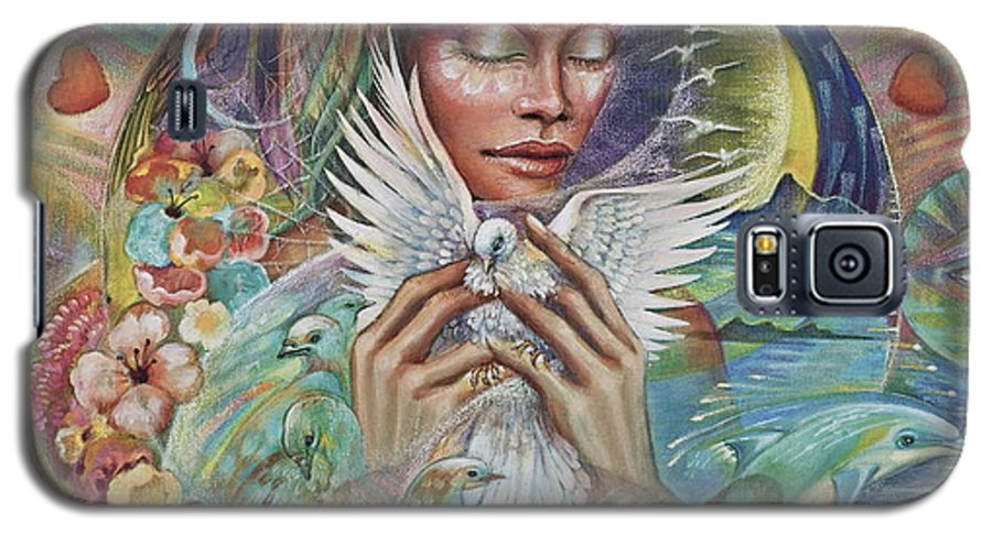 Dove Galaxy S5 Case featuring the painting Prayer For Peace by Blaze Warrender