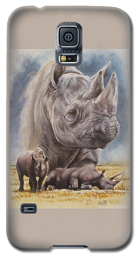 Wildlife Galaxy S5 Case featuring the mixed media Precarious by Barbara Keith