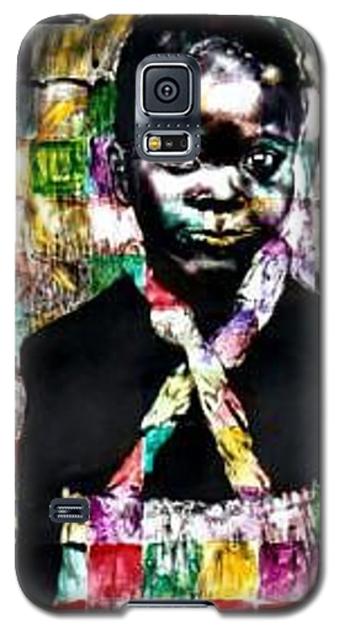 Portrait Galaxy S5 Case featuring the mixed media Precious by Chester Elmore